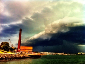 A weather front coming in. Photo by me