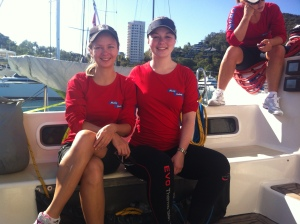 Before a race at Hamilton Island, 2012.